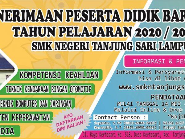 Pengumuman Pendataan dan Pendaftaran PPDB SMKN Tanjung Sari Tahun 2020
