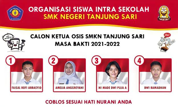 Pemilihan Ketua OSIS SMK Negeri Tanjung Sari Periode 2021/2022
